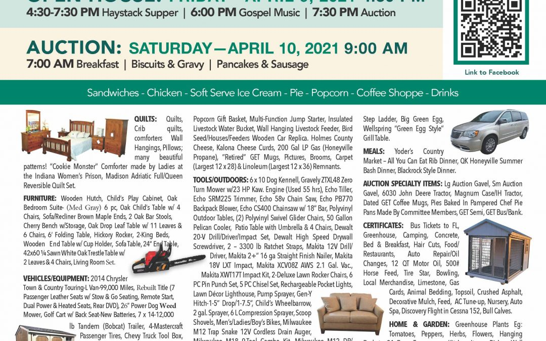 Goshen Open House and Auction